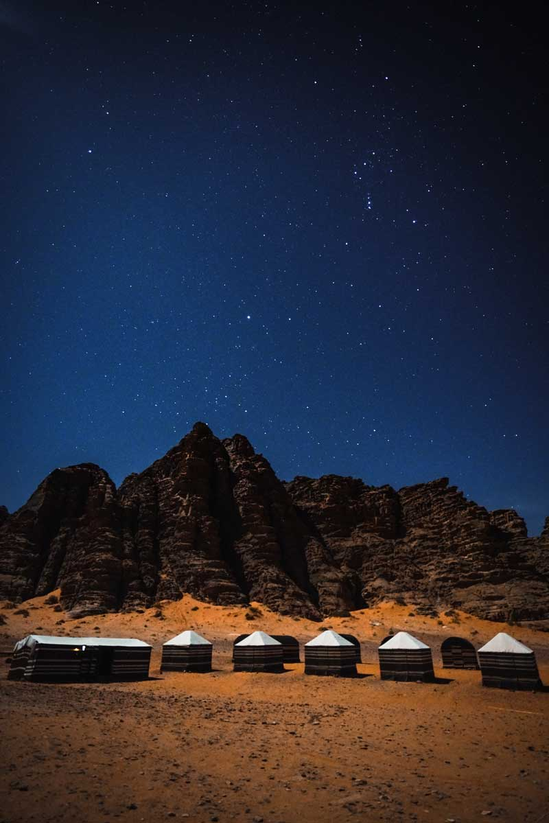 Wadi Rum'da konaklama